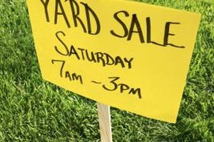 A yard or garage sale is an inexpensive venue for turning household goods into cash.