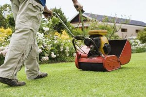 HOA dues pay for lawn maintenance.