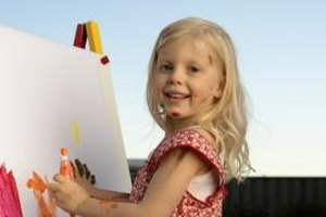 Some simple accommodations make painting accessible to children with various special needs.