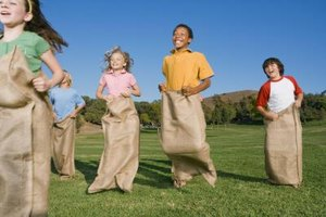 Have your young party goers hop toward the finish line in a pillowcase race.