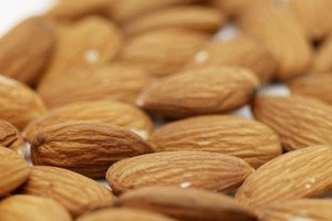 Almonds are rich in vitamin E, calcium, magnesium and potassium.