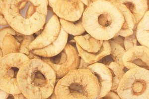 Slices or rings of dried apple make a healthy snack or a useful baking ingredient.