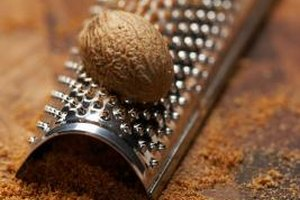 It takes more fresh than dried nutmeg to taste its flavor in recipes.
