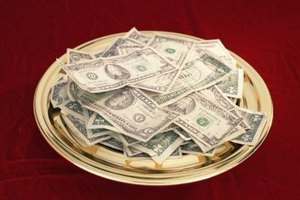 "Some churches ""pass the plate"" each Sunday to collect donations."