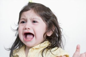 Feeling out of control may lead to temper tantrums.