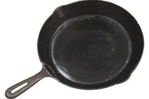 A cast-iron skillet allows for even heat distribution.