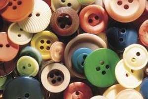 Making button jewelry is a fun pioneer craft for kids.