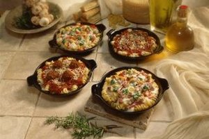 Casseroles go easily from the freezer to the oven.