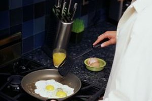 Eggs do not have to stick to a stainless steel pan.
