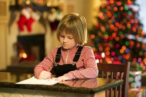 Fun activities like a letter to Santa can help children with special needs learn writing skills.
