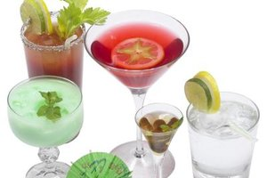 Different kinds of mixed drinks will have different consistencies and appearances.
