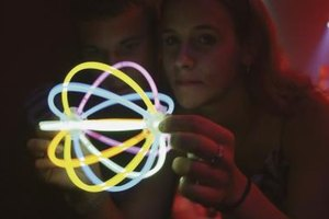 Neon glow sticks make a teen party different and exciting.