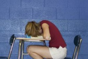 Some gifted teens sleep through class because they're bored.