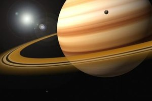 Saturn isn't solid, but its moons are.
