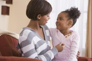 Make eye contact with your child as you congratulate her.