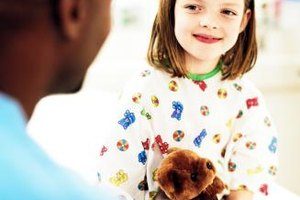 Items such as stuffed animals provide comfort to young hospital patients.