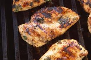 Blanch your chicken before grilling.