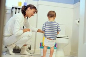 Show your child every step of the toileting process.