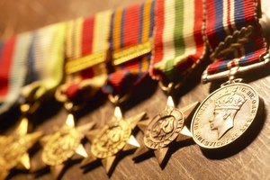 How to Place Military Medals in a Retirement Shadow Box