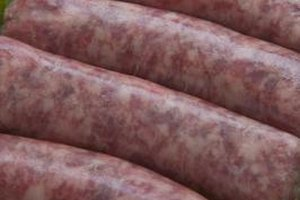 Bratwurst should be simmered, not boiled, to avoid splitting the casings.