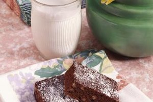 Brownies are healthier when you substitute mashed banana for the oil.