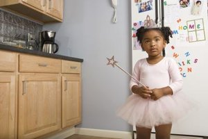 Fridge magents can distract your toddler from opening the door.
