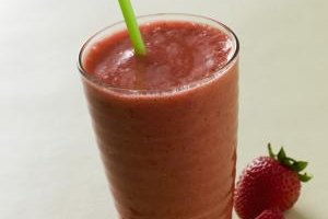 Frozen berries and other frozen fruits add thickness to a smoothie.