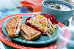 Ham and gouda make for a luscious panini.