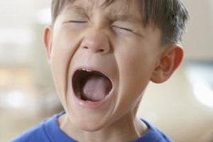 A 2-year-old having a temper tantrum is emotionally age-appropriate and not a sign of abnormal emotional behavior.