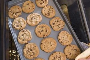 Fan-assisted ovens bake cookies in less time and at a lower temperature.