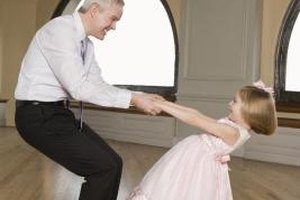 Have your daughter practice dancing with dad.