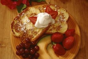 French toast with fruit or juice helps start your day right.