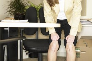 Soothe dry, cracked knees with lanolin or petroleum jelly.
