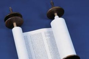 A scroll used in ritual readings of weekly Torah portions.