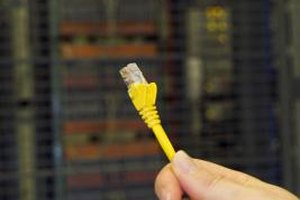 Ethernet cable allows information to be transferred between computers.