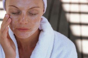 Wash your face with a gentle cleanser before applying a facial mask.