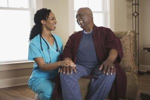 Nurses not only care for their patients, but establish professional relationships with them as well.