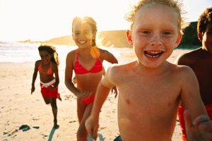 Kids always have enjoyable time on the beach.