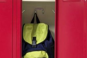 Locker organization provides the basis for school success.