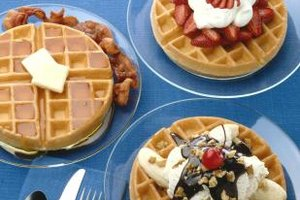 Keep the kids happy with a waffle bar.