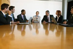 An executive committee supports both the workplace and the board of directors.
