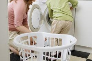 Check over your child's clothes for leftover stains before drying them.