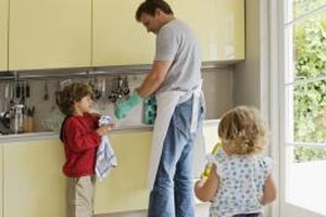 Simple tasks such as wiping counters might be ideal starting chores for children.