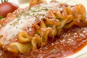 Lasagne appears at Christmas in Italy and in America.