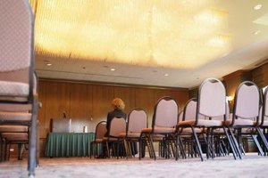 The meeting planner makes sure that meeting rooms are ready when the client arrives for the event.