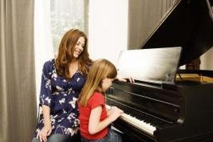 A little encouragement and instruction and a child can pick up piano skills.