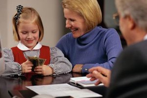 There's no federal inheritance tax to file forms for when a child receives money.