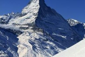 Matterhorn domina Zermatt, Switzerland.