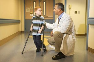 Your child can experience some independence by getting around himself with crutches or a wheelchair.