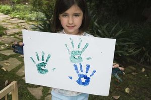 Preserve the image of your child's small handprint with fun activities.